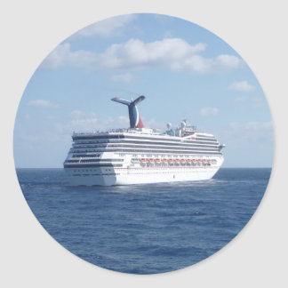 Ship at Sea Round Sticker