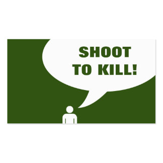 shoot to kill. (billiards customer loyalty) pack of standard business cards