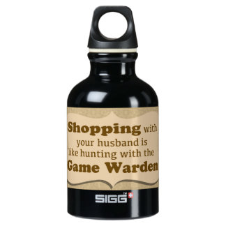 """""""Shopping with your husband......."""" SIGG Traveller 0.3L Water Bottle"""