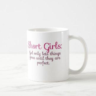 Short girls basic white mug