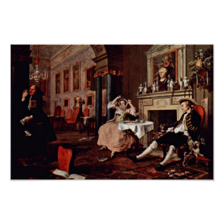 """Shortly After The Wedding """" By Hogarth William Poster"""