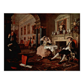 Shortly after the wedding by William Hogarth Poster