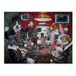 shorty's dogs playing poker postcard