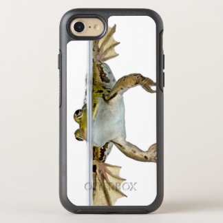 Shot of a Edible frog surfacing in front of a OtterBox Symmetry iPhone 7 Case