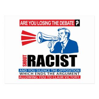 Shout Racist Postcard