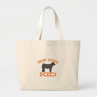 Show Steer Kid Jumbo Tote Bag