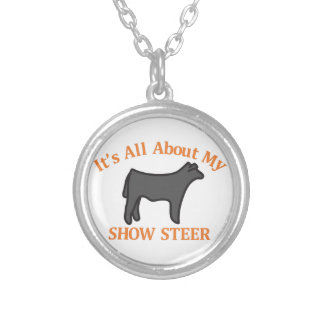 Show Steer Round Pendant Necklace