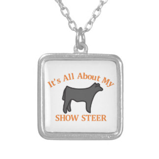 Show Steer Square Pendant Necklace