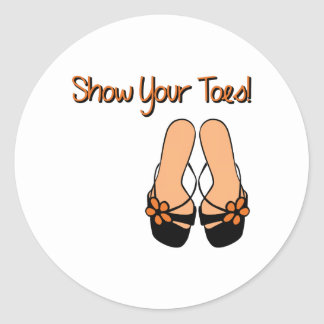Show Your Toes Round Sticker