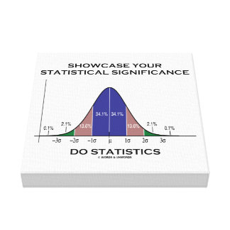 Showcase Your Statistical Significance Statistics Stretched Canvas Print