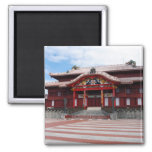 Shuri Castle in Okinawa, Japan Square Magnet