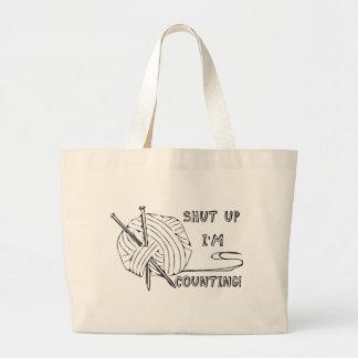 Shut Up I'm Counting Jumbo Tote Bag