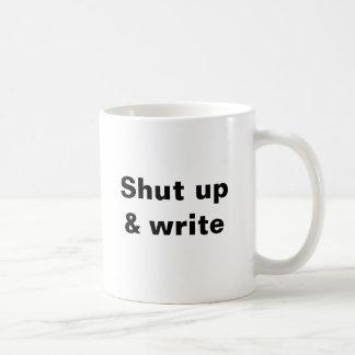Shut up & write @writingmafia basic white mug