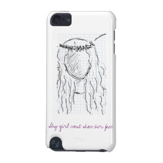 Shy girl wont show her face iPod touch 5G cover