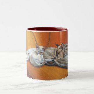 "Siamese Cat Cats ""Family Nap"" Mug Cup"