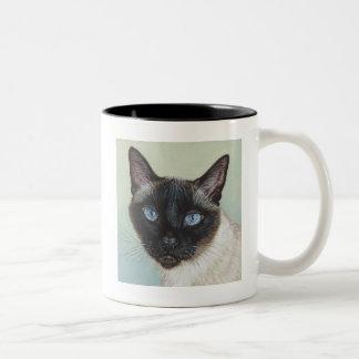 Siamese Cat Murphy Two-Tone Mug