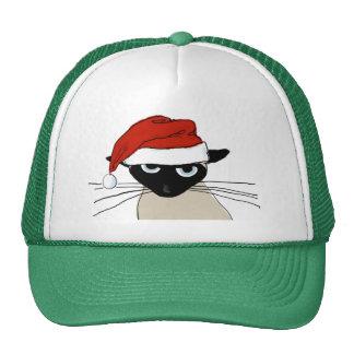 Siamese Santa Claws - Funny Christmas Cat Cap