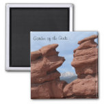 Siamese Twins- Garden of the Gods Square Magnet