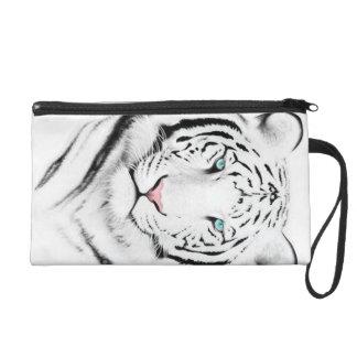 Siberian White Tiger Wristlet Purses