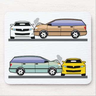 Side car crash mouse pad