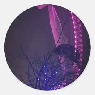 Side of London Eye Round Sticker