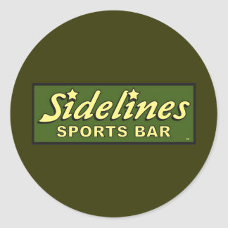 sidelines sports bar extract movie mike judge round sticker