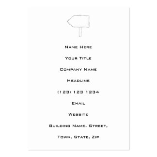 Signpost Arrow. Gray and White. Pack Of Chubby Business Cards