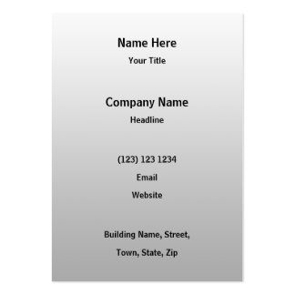 Signpost Notice Image. Black on gray. Pack Of Chubby Business Cards