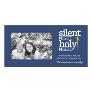 Silent Night, Holy Night Christian Personalised Photo Card
