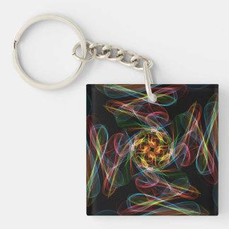 Silky Single-Sided Square Acrylic Key Ring