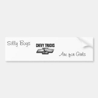Silly boys bumper sticker