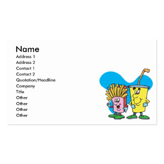 silly french fries and soft drink guys pack of standard business cards