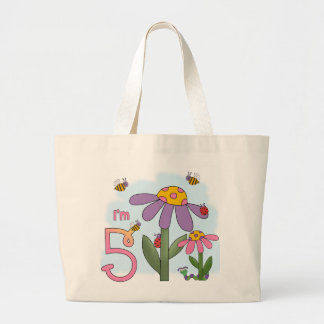 Silly Garden 5th Birthday Jumbo Tote Bag
