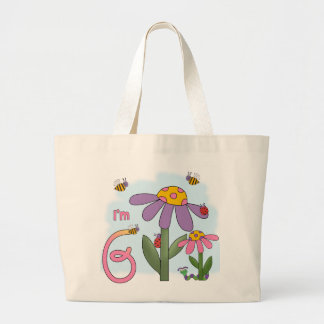 Silly Garden 6th Birthday Jumbo Tote Bag