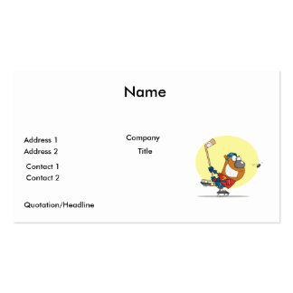 silly ice hockey bear player pack of standard business cards