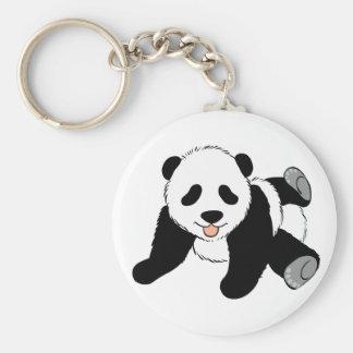 Silly Panda Basic Round Button Key Ring