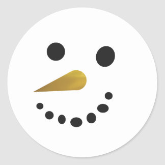 Silly Snowman Sticker / Faux Gold Foil Nose