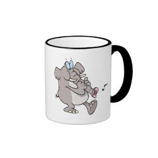 silly trumpet horn elephant tooting trunk ringer mug
