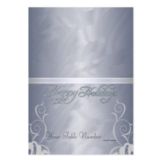 Silver Foil Silver Ribbon Holiday Table Placecard Pack Of Chubby Business Cards