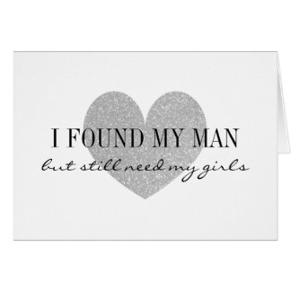 Silver heart Will you be my bridesmaid cards