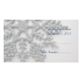 Silver Snowflake Wedding Place Cards Pack Of Standard Business Cards