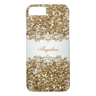 Silver White Gold Diamond Jewel Glitter iPhone 7 Case