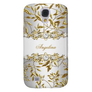 Silver White Gold Diamond Jewel Image Galaxy S4 Case
