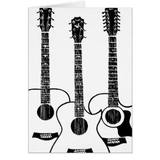 simple acoustic guitars greeting card