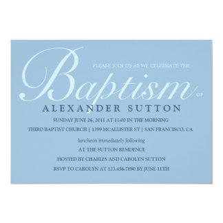 Simple Blue Baptism/Christening Invite