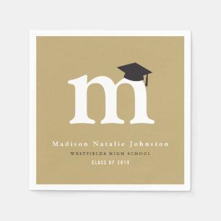 Simple Classic Monogram Graduation Paper Napkins