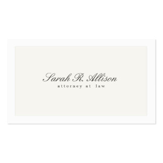 Simple Elegant Attorney Professional White Pack Of Standard Business Cards