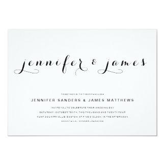 Simple Elegant Script | Modern Wedding Invitation