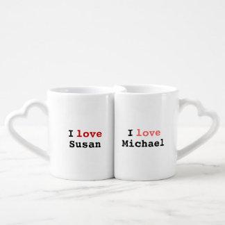 simple 'love each other' idea lovers mug