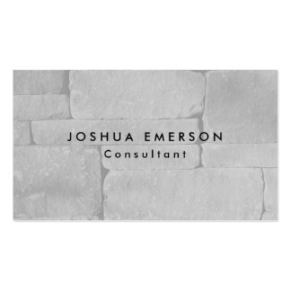 Simple Plain Elegant Grey Wall Modern Pack Of Standard Business Cards
